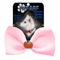 Mirage Pet 47-58 LPk Pumpkin Widget Pet Bowtie, Light Pink