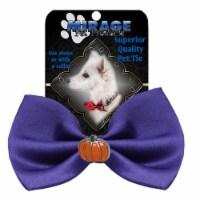 Mirage Pet 47-58 PR Pumpkin Widget Pet Bowtie, Purple