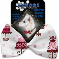 Pink Whimsy Bird Cages Pet Bow Tie - 1