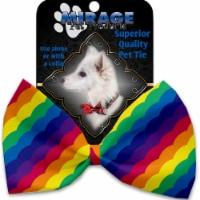 Mirage Pet 1145-BT Scalloped Rainbow Pet Bow Tie