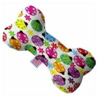 Mirage Pet 1183-TYBN8 8 in. Bright Ladybugs Bone Dog Toy