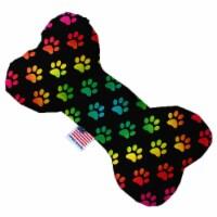 Scalloped Rainbow 10 inch Bone Dog Toy - 1