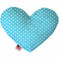 Mirage Pet 1159-TYHT6 6 in. Aqua Polka Dots Heart Dog Toy