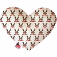 Mirage Pet 1171-TYHT6 6 in. Dapper Rabbits Heart Dog Toy