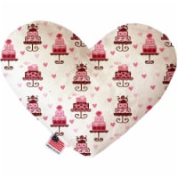 Pink Whimsy Bird Cages 8 inch Heart Dog Toy - 1
