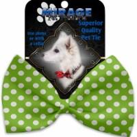 Mirage Pet 1244-BT Lime Green Swiss Dots Pet Bow Tie