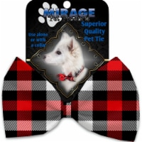 Mirage Pet 1302-BT Red & White Buffalo Check Pet Bow Tie