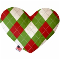 Christmas Argyle 6 Inch Heart Dog Toy - 1