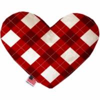 Candy Cane Argyle 6 Inch Heart Dog Toy - 1