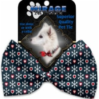 Mirage Pet 1317-BT Snowflakes & Hearts Pet Bow Tie