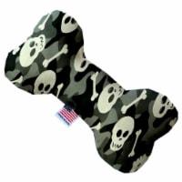 Mirage Pet 1340-TYBN6 Gray Camouflage Skulls 6 in. Bone Dog Toy