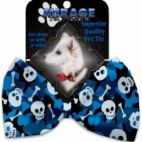 Mirage Pet 1342-BT Blue Camouflage Skulls Pet Bow Tie - 1