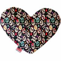 Mirage Pet 1348-TYHT6 Dia De Los Muertos Skulls 6 in. Heart Dog Toy