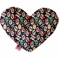 Mirage Pet 1348-TYHT8 Dia De Los Muertos Skulls 8 in. Heart Dog Toy - 1