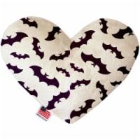 Mirage Pet 1352-TYHT8 Purple Bats 8 in. Heart Dog Toy - 1