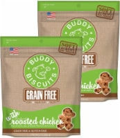 Buddy Biscuits Grain Free Soft & Chewy Dog Treats, Roasted Chicken, 2 Pack, 5oz Each - 1