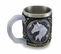 White Unicorn Drinking Tankard Tribal Coffee Cup Mug - One Size