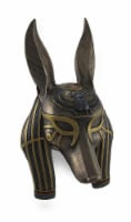 Mask of Anubis the Jackal God Sculptured Wall Hanging - 11 x 6 inch