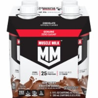 Muscle Milk Genuine Non Dairy Chocolate Protein Shake 4 Count
