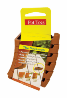 Pot Toes The Decksaver 1 in. H x 2 in. W x 3 in. D Plastic Planter Feet Terracotta - Case Of: