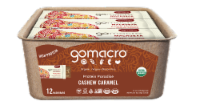 GoMacro Protein Paradise Cashew Carmel Macrobar Pack 12 Count