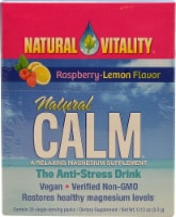Natural Vitality  Natural Magnesium Calm   Raspberry Lemon - 30 Packets