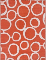 Key West Circles 5'x7' Reversible Outdoor Rug