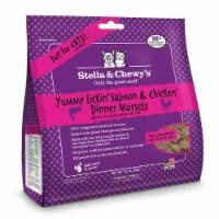 PF 84000115 3.5 oz Stella & Chewys Pouch Freezed Raw Yummy Lickin Salmon & Chicken Dinner for - 1