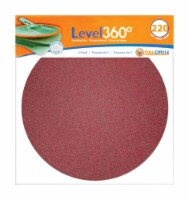 Full Circle  Level 360  8.75 in. Aluminum Oxide  Hook and Loop  Sanding Disc  220 Grit Very - Count of: 1
