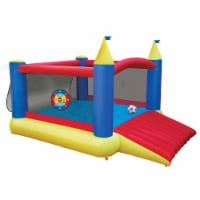 Banzai 16419 Slide 'n Score Activity Bouncer Inflatable Bounce House with Games - 1 Unit