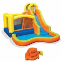 Banzai Sun 'N Splash Fun Kids Inflatable Bounce House & Water Slide Splash Park