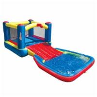 Banzai 35533 Bounce N Splash Water Park Aquatic Activity Play Center with Slide