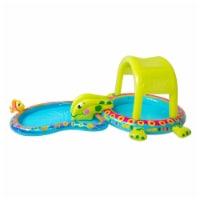 Banzai Shade 'N Slide Turtle Inflatable Kiddie Splash Pool Set with Sprinkler - 1 Unit