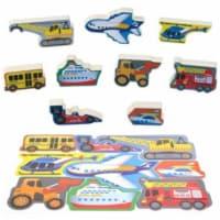 playgo 1995 Air & Land Craft Puzzle