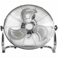 Northlight 32607212 14 in. Silver Three Speed Adjustable Tilt Portable Floor Fan - 1