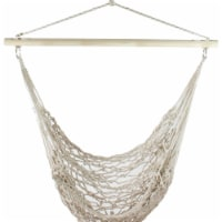 Northlight 32816653 39 x 43 in. Netting Hammock Chair with Striped Cushion & Wooden Bar
