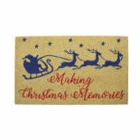 Northlight 33841586 18 x 30 in. Santa & Reindeer Making Christmas Memories Door Mat