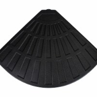 Northlight 34219516 Fan Shaped Resin Base Stand for off-Set Umbrella - 26 lbs - Black