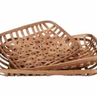 Northlight 34219230 Lattice Rectangular Tobacco Table Top Baskets, Brown - Set of 3 - 1