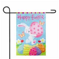 Northlight 34219483 Happy Easter Bunny with Eggs Outdoor Garden Flag - 12.5 x 18 in.
