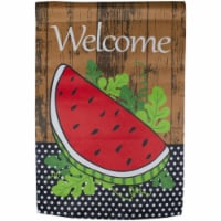 Northlight 34219451 Welcome Watermelon Slice Spring Outdoor Garden Flag - 12.5 x 18 in.