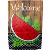 Northlight 34219469 Welcome Watermelon Slice Spring Outdoor House Flag - 28 x 40 in.