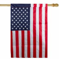 Northlight 34219492 Embroidered American Outdoor House Flag - 28 x 40 in.