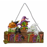 NorthLight 34338776 13.5 in. Trick or Treat Halloween Pumpkin Ghost & Witch Wall Decoration - 1