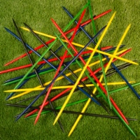 Jumbo Pick Up Sticks Set of 25 Colorful 31 Inch Long Kids Game Indoor Outdoor - 1 unit