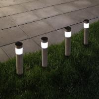 4 Solar Stainless Steel LED Pathway Lights Garden Yard Decor Flowerbeds 14 Inch - 1 unit