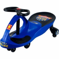 Lil Rider M370004 Police Car Ride on Wiggle Car by Lil for Boys & Girls, Blue & Black - 1