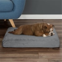 Petmaker 80-PET6003 26 x 19 x 4 in. Orthopedic Pet Bed Egg Crate & Memory Foam with Washable - 1