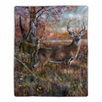 Fluffy Plush Throw Blanket 50 x 60 Inch - Deer Print Lightweight Hypoallergenic Bed or Couch - 1 unit