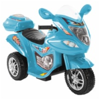 Battery Operated Powered Bike Three Wheeled Trike Motorcycle Ride On Toy 2 - 3 Yrs Blue